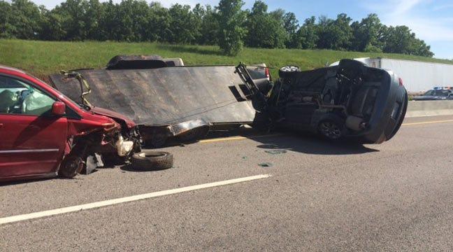 Multi-Vehicle Wreck Blocks Traffic On Turner Turnpike Near Stroud