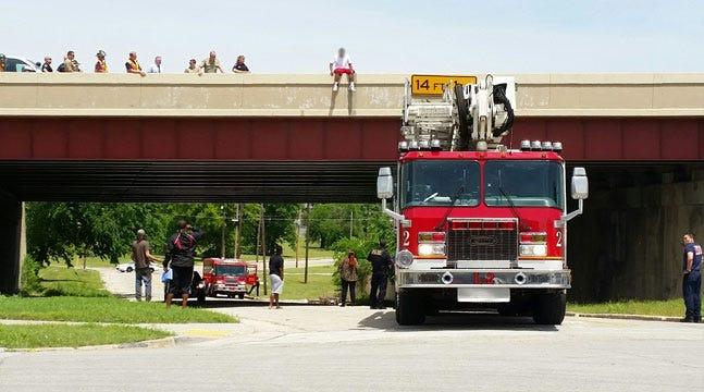 Police Rescue Man Threatening To Jump Off Tulsa Bridge