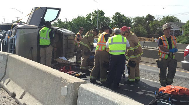 Rollover Tulsa Wreck Causes Injuries On Westbound I-244 Near Utica