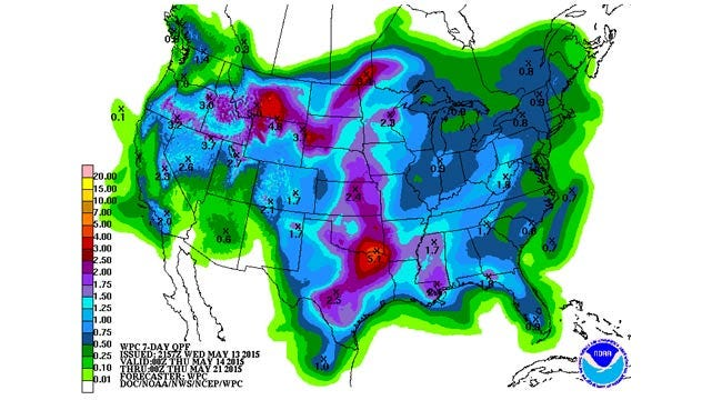 Dick Faurot's Weather Blog: More Rain Tonight, Brief Break, More Rain Over The Weekend