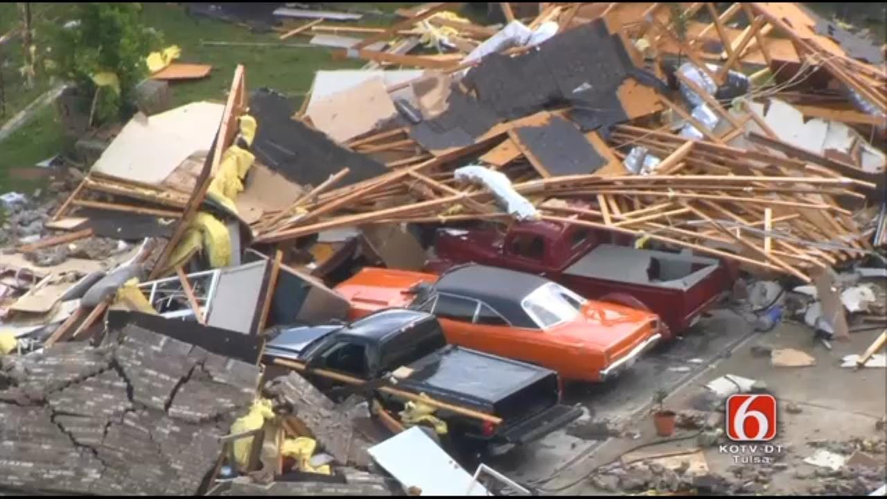 Residents Cleaning Up From Rogers County Storm Damage