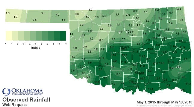 Month Of May Off To Rainiest Start In Oklahoma Since 1921