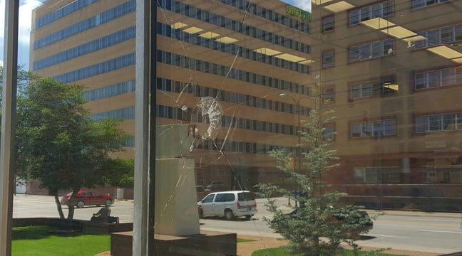 Vandals Hit Tulsa County Courthouse