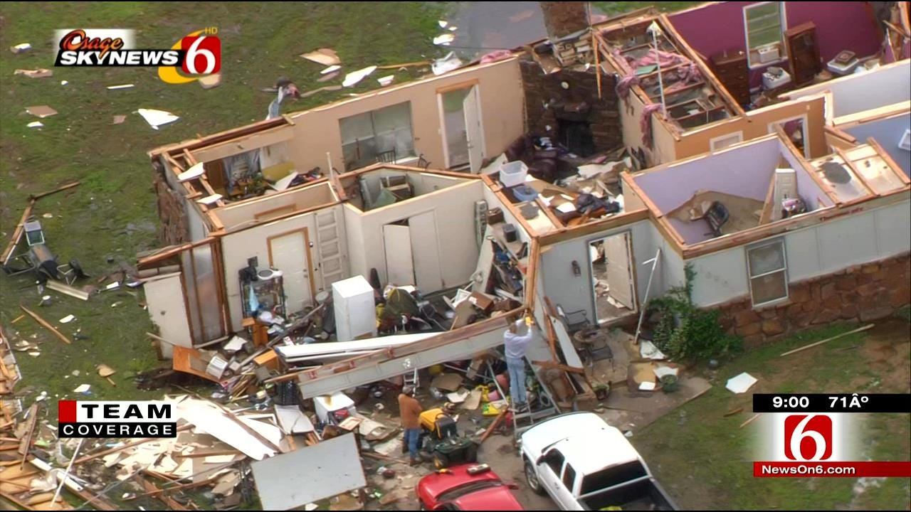 Wagoner County Woman Clings To Tub, Prays As Tornado Rips Off Roof