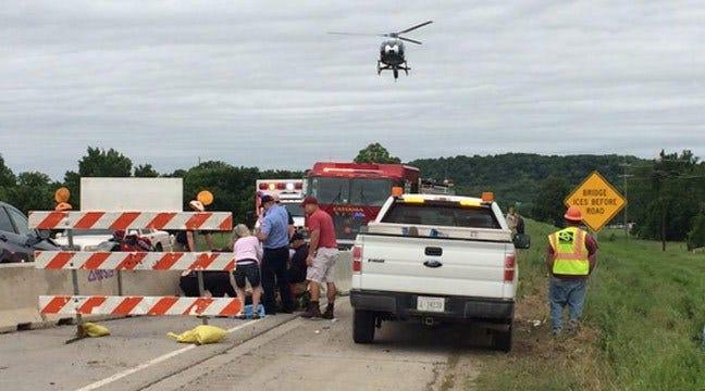 Crash Closes Highway 266 At The Verdigris River