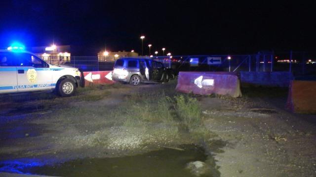 SUV Hits Barrier At Tulsa International Airport