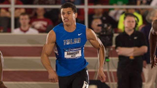 TU's Robinson Earns 8th Fastest Time In The World At AAC Championships