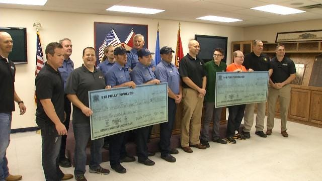 Charities Benefit From Firefighter, Police Fight