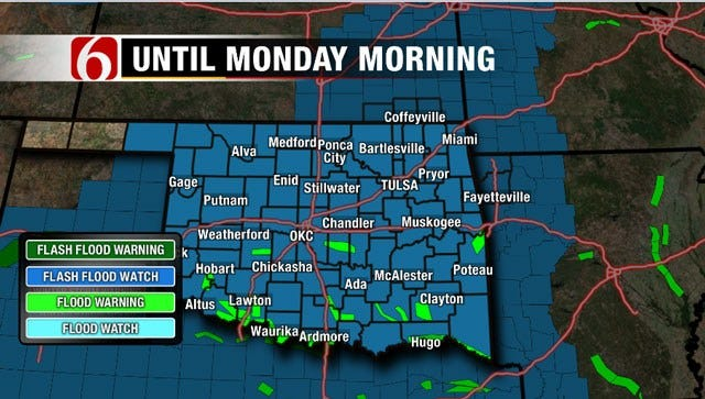 Soggy Holiday Weekend For Eastern Oklahoma