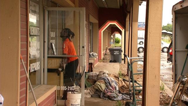 Glenpool Businesses Begin Cleanup After Floodwaters Rush Inside