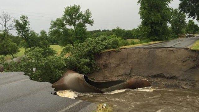 High Water Closes Over A Dozen Oklahoma Highways