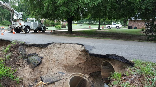 Broken Arrow Closes Two Streets Damaged By Flood Waters