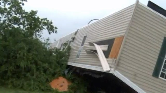 Fallen Tree Briefly Traps Poteau Woman In Storm Shelter