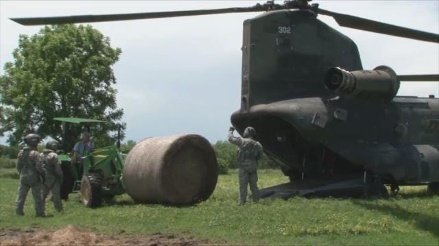 National Guard Helicopter Aids Muskogee County Rancher