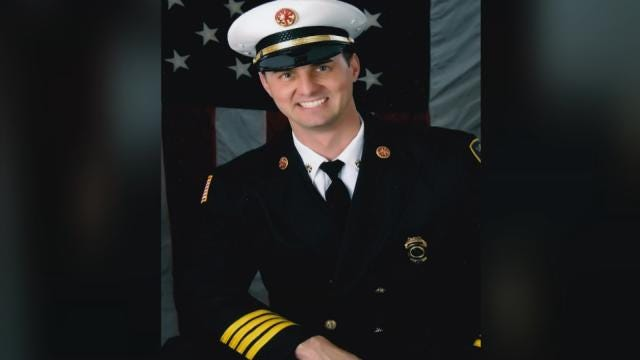 First Responders Gather To Pay Tribute To Fallen Claremore Firefighter