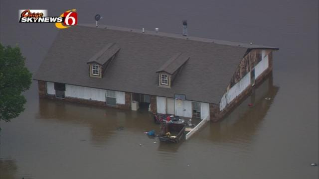 Wagoner Residents Evacuated Due To Rising Flood Waters