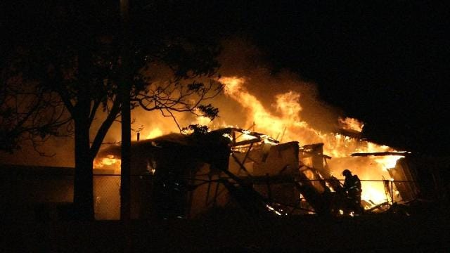 Explosion Throws Woman From Tulsa Duplex