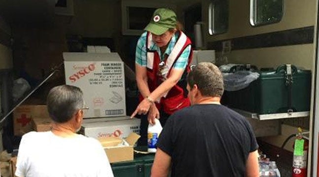Red Cross Serving Flood Victims In Wagoner, Webbers Falls
