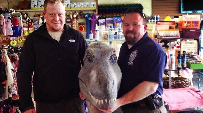 Bartlesville T-Rex Statue Theft Leads To Tulsa Man's Arrest