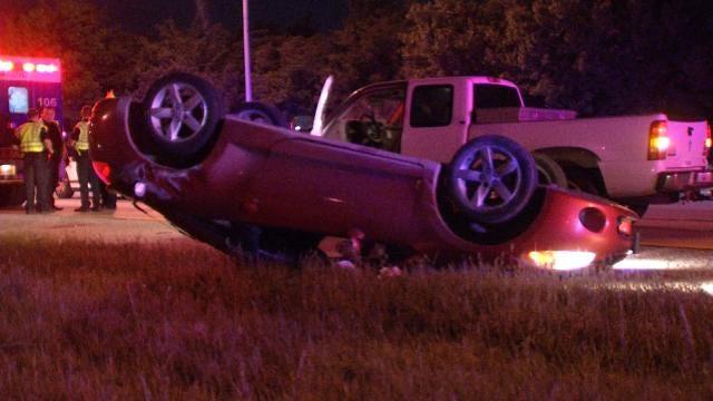 Man Hurt When Car Rolls On Broken Arrow Expressway