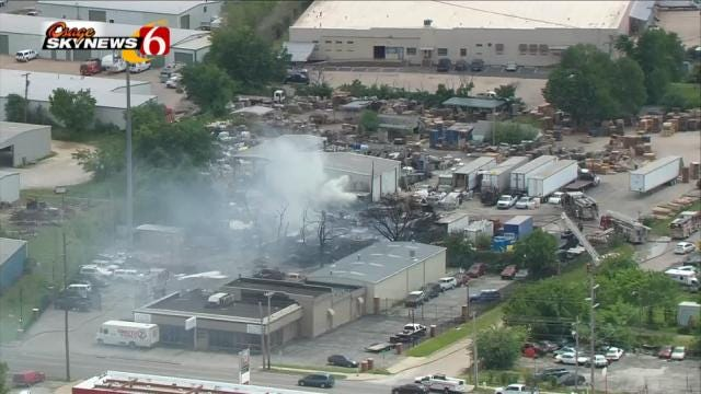 Midtown Tulsa Pallet, Vehicle Fire Likely Cause By Cigarette