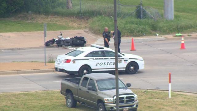 Motorcyclist Injured In Tulsa Crash