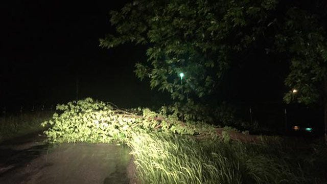 Showers, Thunderstorms Drench Eastern Oklahoma