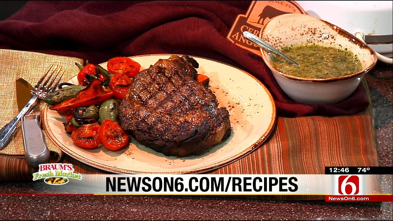 Grilled Steak With Classic Chimichurri Sauce