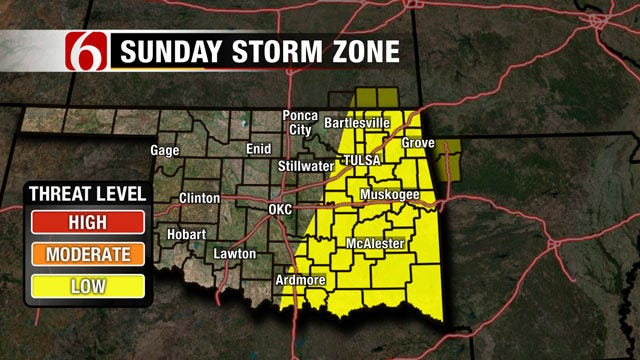 Severe Weather, Hail Threat Facing Eastern Oklahoma