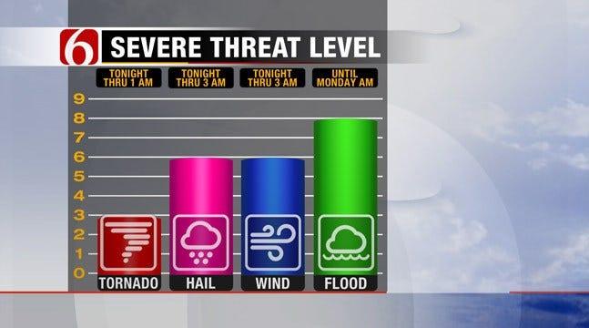 Thunderstorms Move Across Northeastern Oklahoma