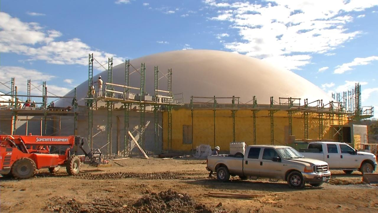 'Monolithic Dome' Takes Shape At Catoosa Schools