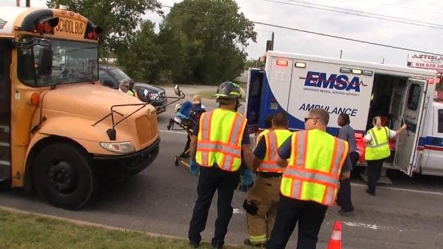 School Bus Involved In Crash In Tulsa