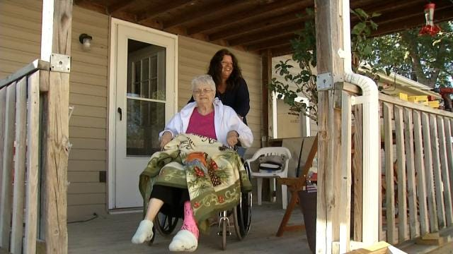 Owasso Home Depot Workers Build Ramp For Injured Woman