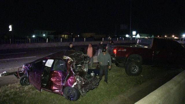 Two Hospitalized In Tulsa Crash Blamed On Tailgating