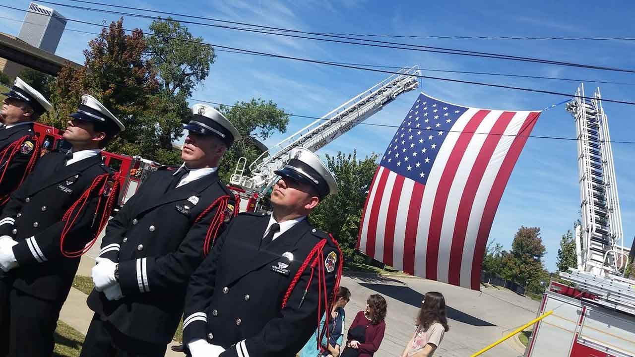 Tulsa's Fallen Firefighters Honored At Memorial Sunday