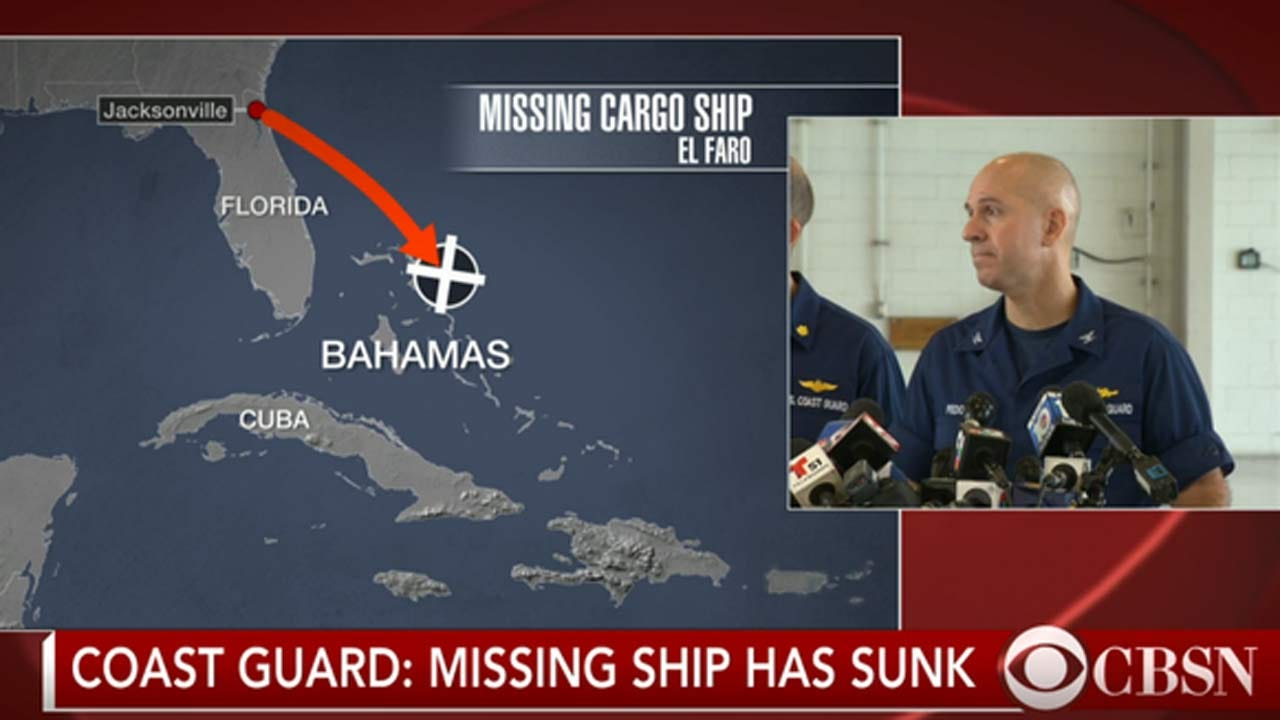 One Body Recovered From Sunken Cargo Ship, Search For Survivors Continues