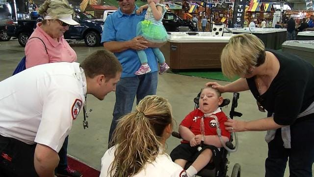 Tulsa 4-Year-Old With Rare Condition Spends Rare Day At The Fair