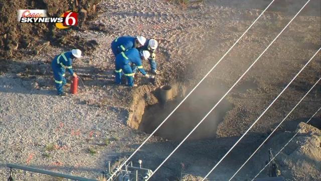 Gas Line Break Causes Morning Traffic Diversion in Broken Arrow