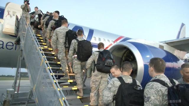 200 Oklahoma Air National Guardsmen Deploy From Tulsa To Japan