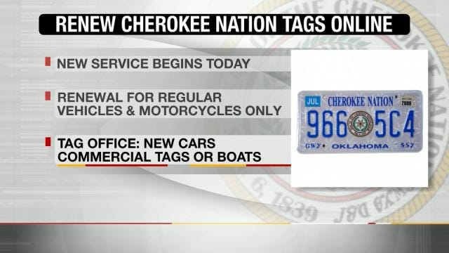 Cherokee Citizens Can Renew Tribal License Plates Online