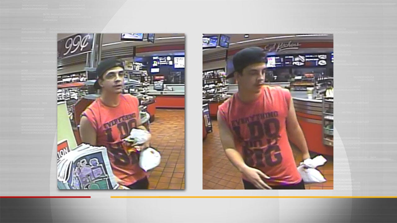 Police Seek To Identify Man Who Threatened Tulsa Store Clerk