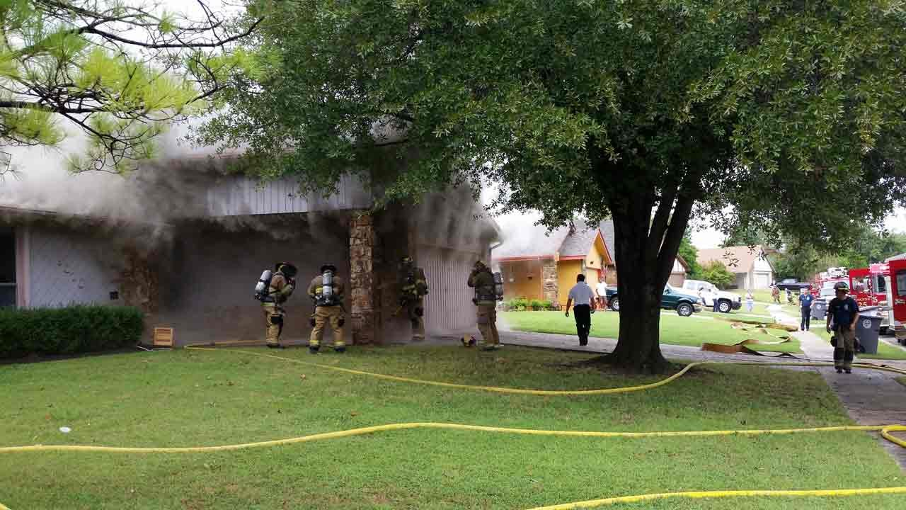 Tulsa Fire Crews Investigate House Fire