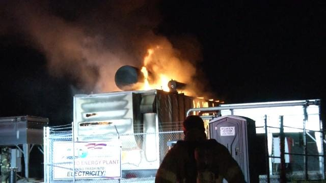Electric Generator Destroyed In Sand Springs Landfill Fire