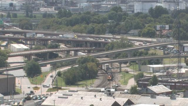 Diesel Spill Impacts Traffic On West Leg Of Tulsa's IDL