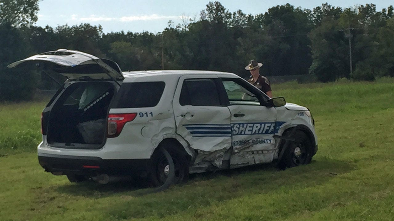 Stolen Car Runs Out Of Gas During Chase, Deputy Involved In Crash