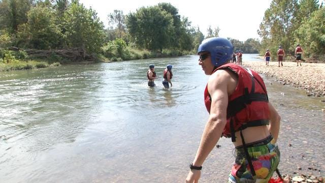 Tulsa Fire Department Recruits Learn Basics Of Swift Water Rescue