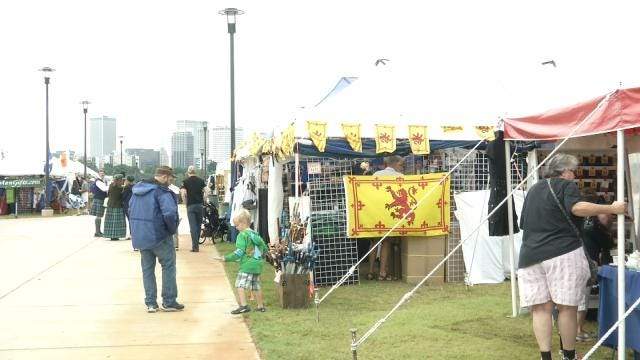 Oklahoma Scotfest Underway At Renovated River West Festival Park