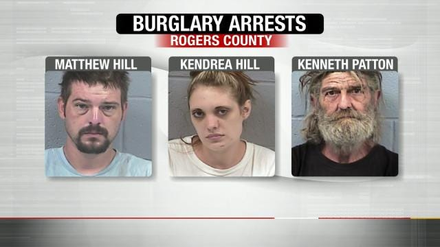 Three Arrested In Rogers County Burglary Ring