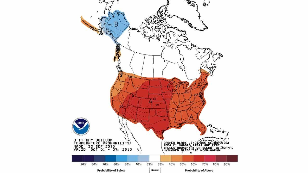 Dick Faurot's Weather Blog: Fall Has Arrived, But Not Fall-Like Weather