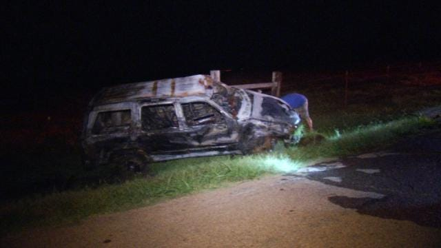 Father, Son Pull Woman From Burning SUV After Tulsa Crash